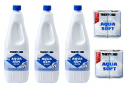 Aqua Kem Blue Toilet Chemical Package (3 x 2Ltr Bottles + 2 x Aqua Soft)